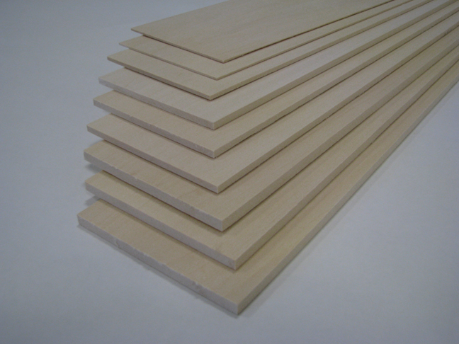 Basswood strips for crafts