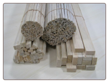 3/16x1/2x36 Balsa Wood Sticks