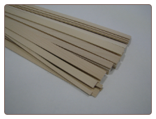 1/4x1/2x48 BASSWOOD Sticks